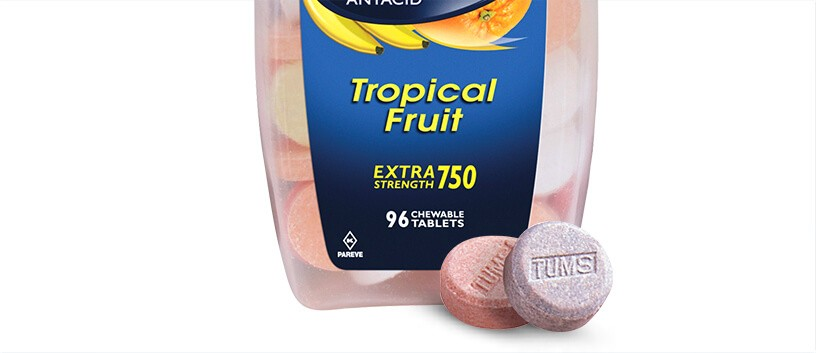 Tropical Fruit TUMS Flavor
